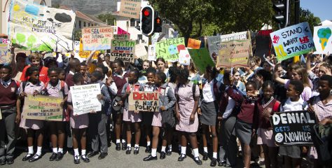Cape Town School Kids Skip Class for Climate Change Protest