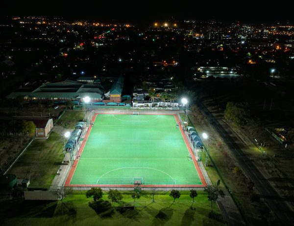 BEKA Schréder Supplies LED Floodlighting Solution for High School's Hockey Field